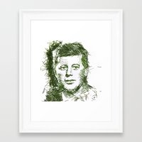 jfk Framed Art Prints featuring JFK by Jessie Maxwell Bearden