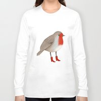 robin Long Sleeve T-shirts featuring Robin by Hana Stupica