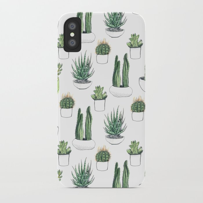 watercolour cacti & succulents iphone case
