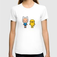 finn and jake T-shirts featuring #48 Jake and Finn by Brownjames Prints