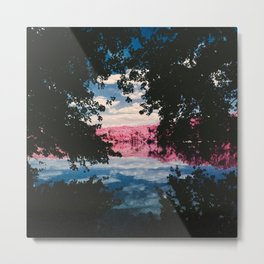Infrared Nature Frame Metal Print