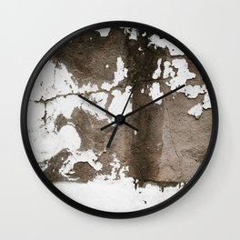 Rust White Brown Wall Clock