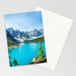 Lake Moraine, Alberta, Canada Stationery Cards