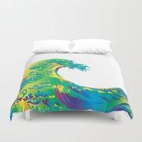 hokusai Duvet Covers featuring Hokusai Rainbow_A by FACTORIE