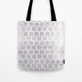 Silver bee cube Tote Bag