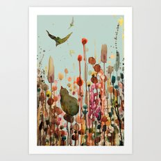 learning to fly Art Print