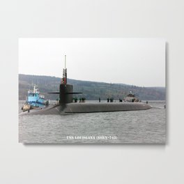 USS LOUISIANA (SSBN-743) Metal Print