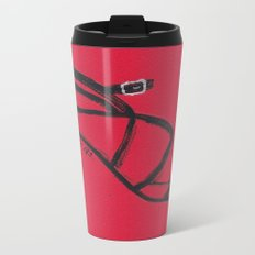 Strappy Heel Fashion Illustration Metal Travel Mug