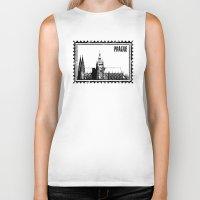 prague Biker Tanks featuring Prague castle by siloto