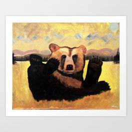 """Yellowstone Moonlight""  Art Print"