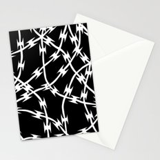 Barb Black Stationery Cards