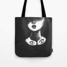 Contemporary Black and White Collar  Tote Bag