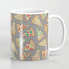 Pizza on Dark Grey Coffee Mug