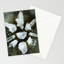 Quartz Crystal Healing Circle Stationery Cards
