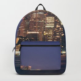 Boston Skyline at Night Backpack