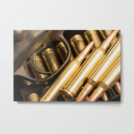 Rifle Trigger and Bullets Metal Print