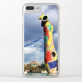 Joan Miró's Woman and Bird Sculpture Clear iPhone Case