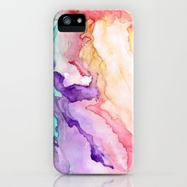 Color My World Watercolor Abstract Painting iPhone Case
