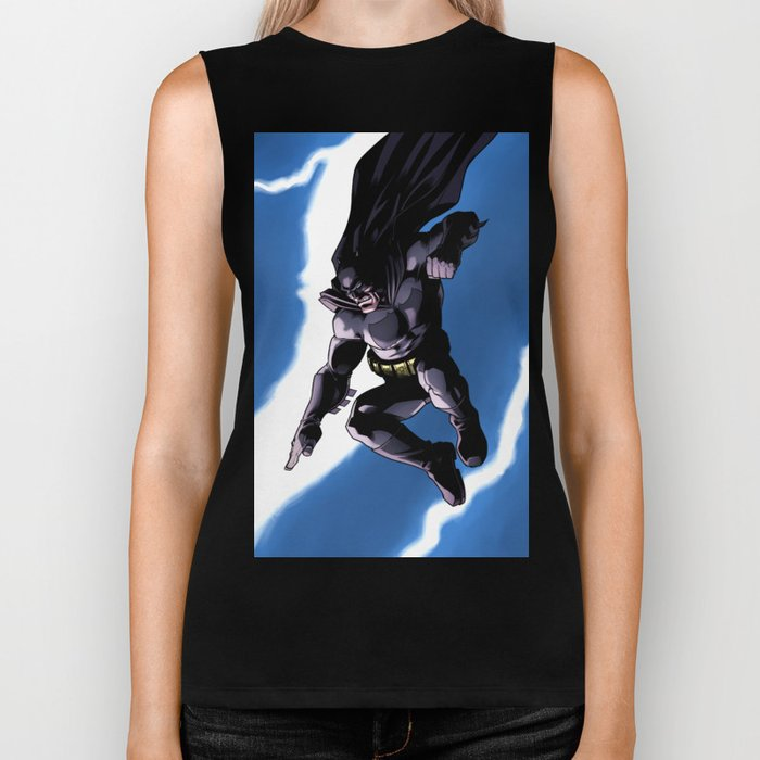 A Dark and Stormy Knight Biker Tank