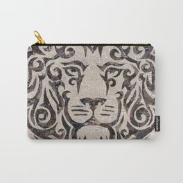 black lion on French newsprint Carry-All Pouch
