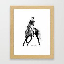 Horse (Dressage / half pass) Framed Art Print