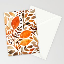 Autumn watercolor leaves Stationery Cards