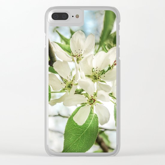 the Apple blossoms Clear iPhone Case