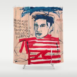 Picasso after Basquiat Shower Curtain