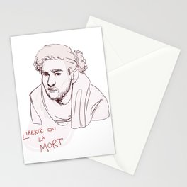 Enjolras - liberte ou la mort Stationery Cards