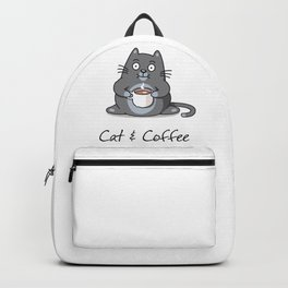 Cat & coffee Backpack