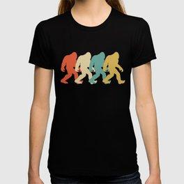 Bigfoot Silhouette Retro Pop Art Sasquatch Graphic T-shirt