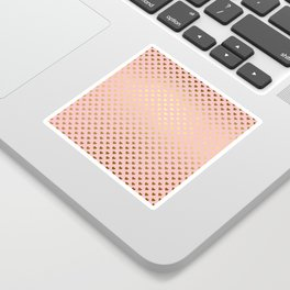 Gold and pink sparkling and shiny Hearts pattern Sticker