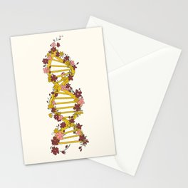 Floral DNA Stationery Cards