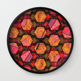Hexed Wall Clock