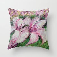 dc Throw Pillows featuring DC Magnolias by Ann Marie Coolick