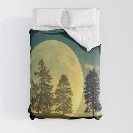 Landscape with trees Comforters