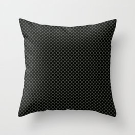 Black and Duffel Bag Polka Dots Throw Pillow