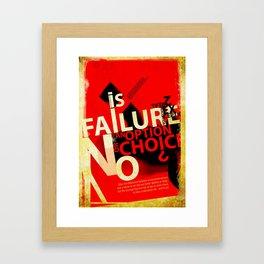 Option or Choice? Framed Art Print