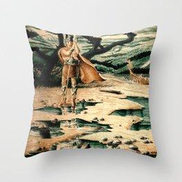 Viking Man Throw Pillow