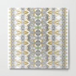 Classic Art Nouveaux Neo Tribal Geometric Metal Print