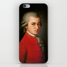 Wolfgang Amadeus Mozart (1756 -1791) by Barbara Krafft (1819) iPhone Skin