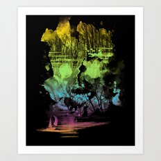 treasure island Art Print