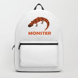 Herpetology Reptilian Cold Blooded Animal Gift I'm A Gila Monster Lizard Reptile Alligator Backpack