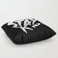 Stay Rad (on Black) Floor Pillow