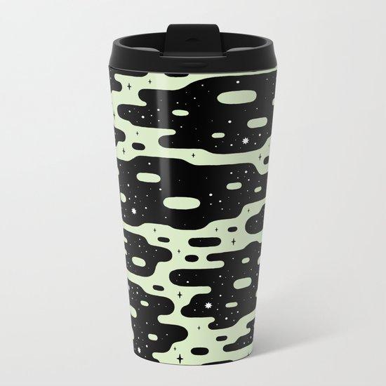 Space Blobs Metal Travel Mug