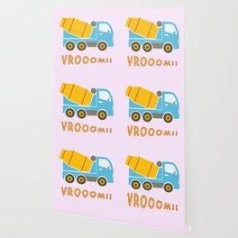 Cement mixer truck Wallpaper