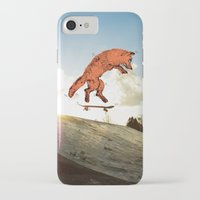 skateboard iPhone & iPod Cases featuring Skateboard FOX! by Jesse Robinson Williams