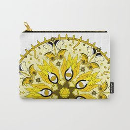 Solar Plexus Chakra Mandala Carry-All Pouch