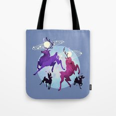 Solar Stags Tote Bag