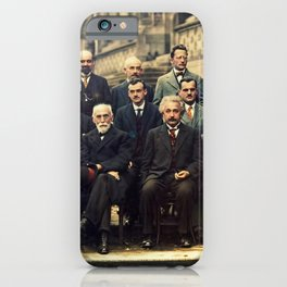 Solvay Conference 1927 Einstein Scientists Group iPhone Case